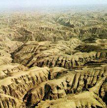 被侵蚀的黄土高原
